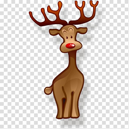 Rudolph santa claus christmas. Clipart reindeer brown
