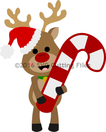 Holding . Clipart reindeer candy cane