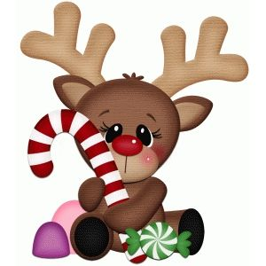 Clipart reindeer candy cane. Silhouette design store view