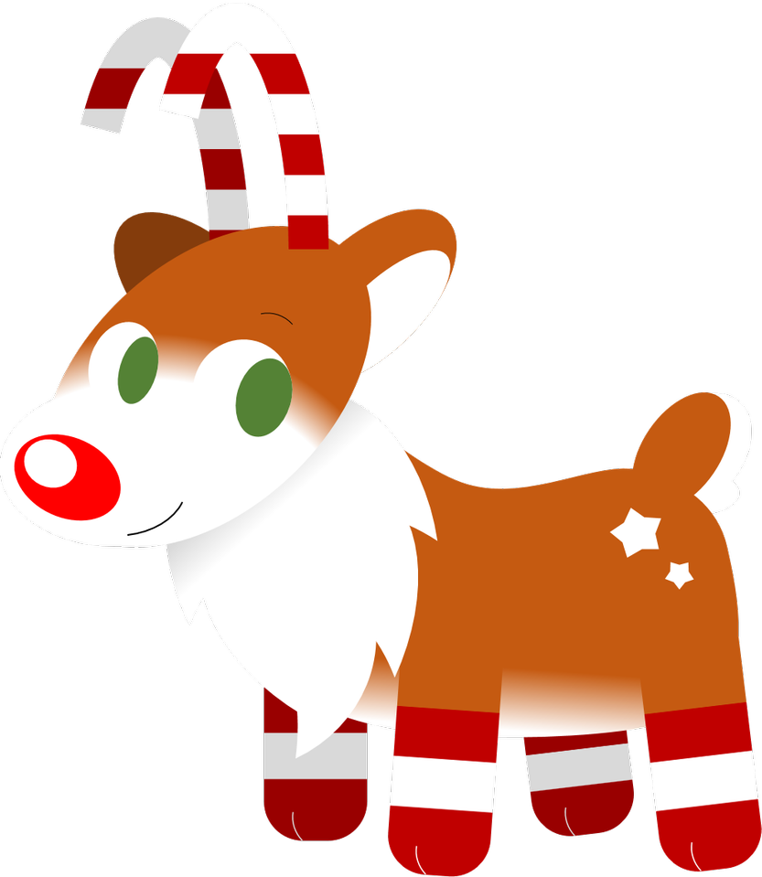 Clipart reindeer candy cane. By alice of africa
