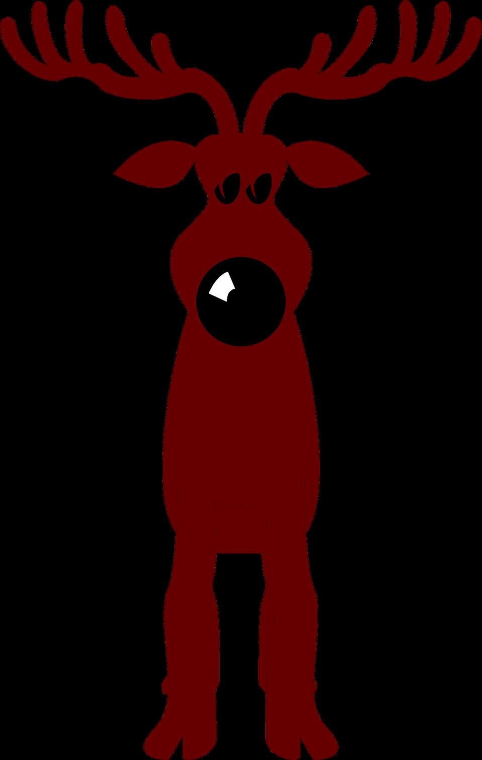 Deer clipart nose. Reindeer free stock photo