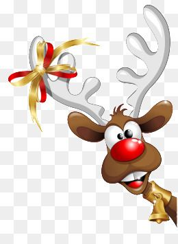 Christmas cartoon png . Clipart reindeer catoon