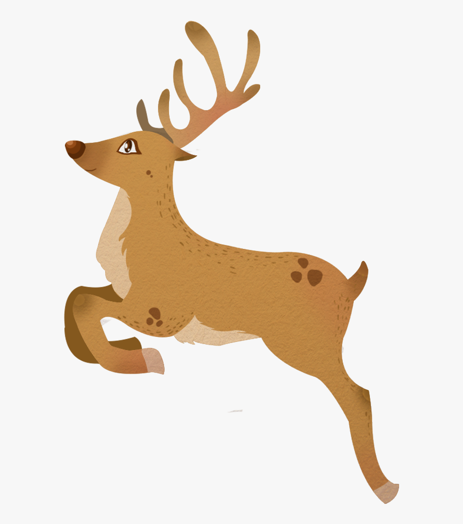 Clipart reindeer catoon. Image free