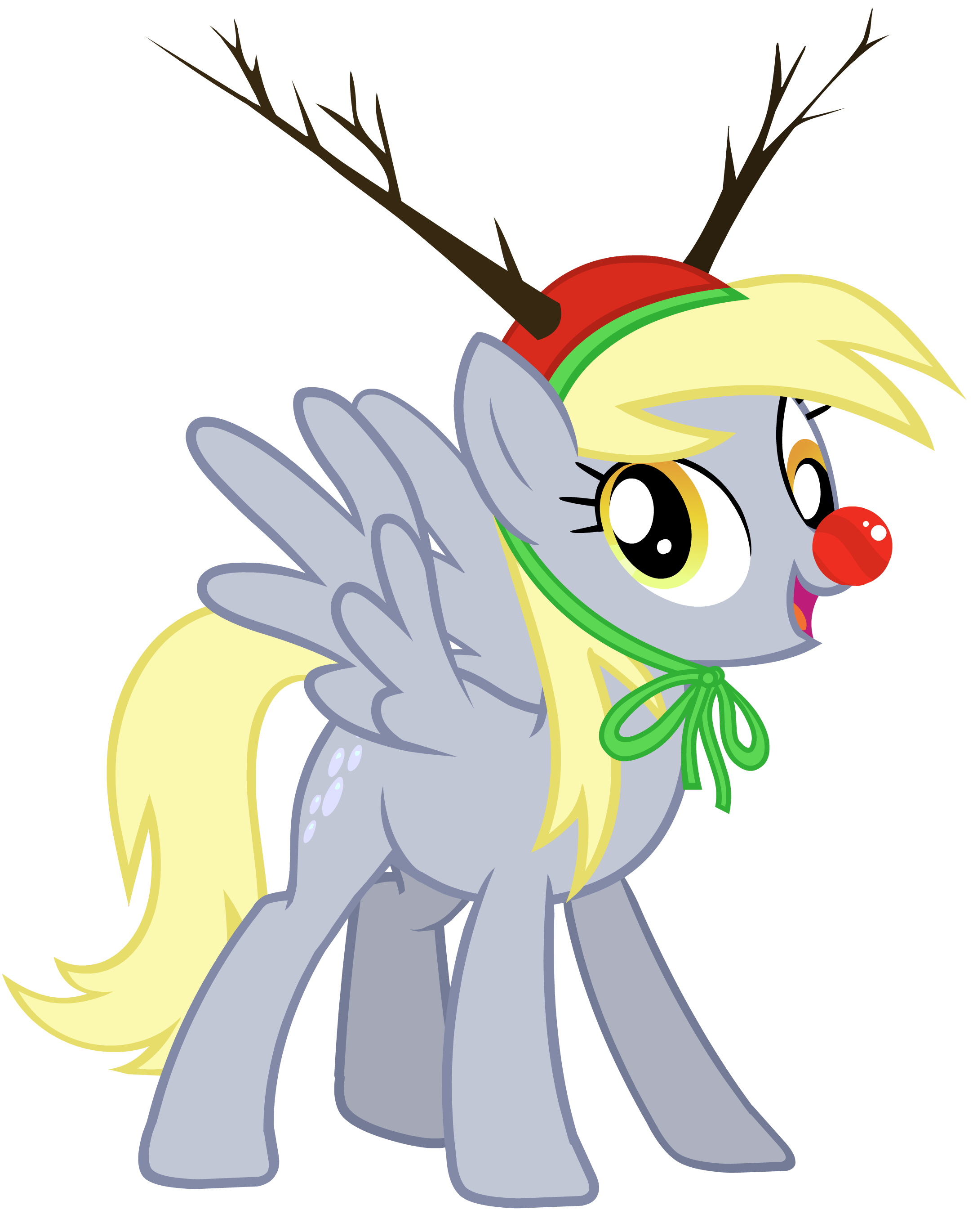 Derpy the red nosed. Clipart reindeer character