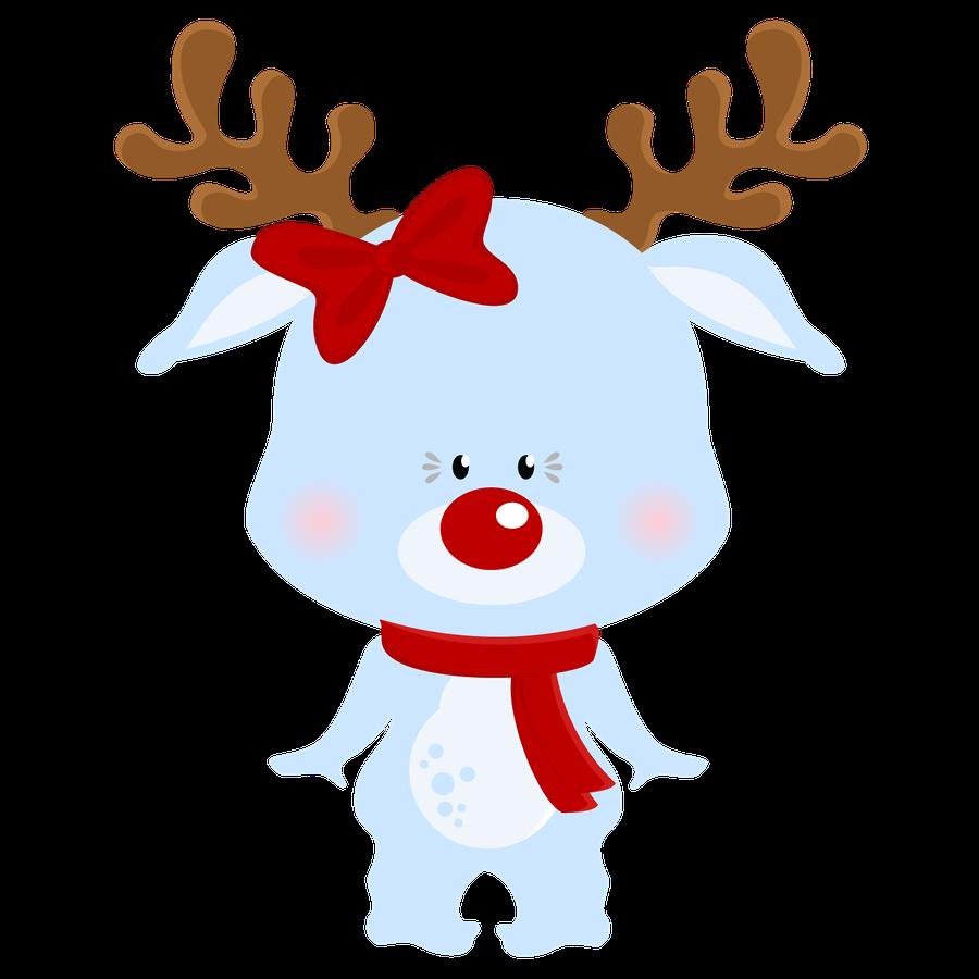 Girls clipart reindeer. Natal minus already felt