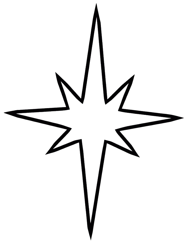 Nativity clipart christmas star. Pictures coloring for kids