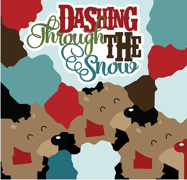 Dashing through the snow. Clipart reindeer craft