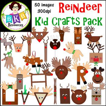 Clipart reindeer craft. Christmas clip art crafts