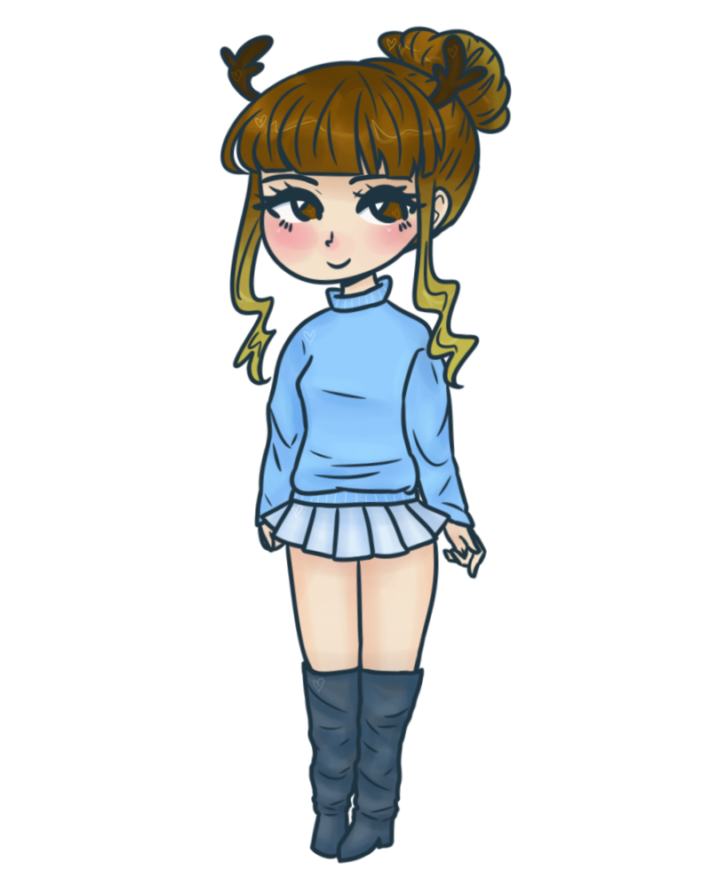 Clipart reindeer cute anime. Merry emma by coffee