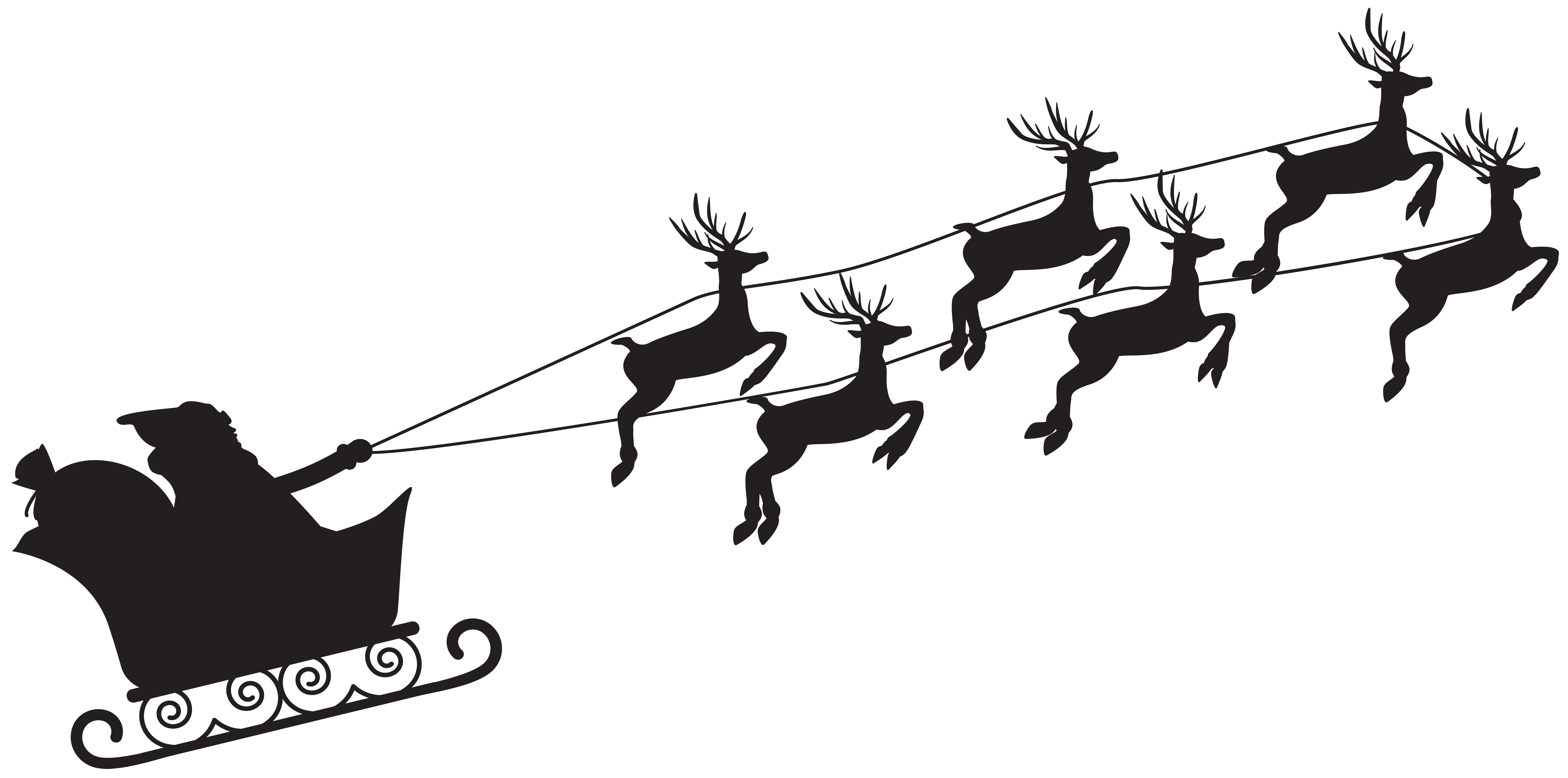 Santa claus at getdrawings. Lds clipart silhouette