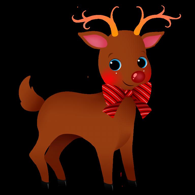girls clipart reindeer