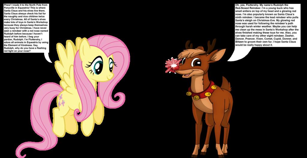 Fluttershy meets rudolph by. Clipart reindeer dasher