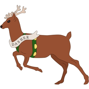 Silhouette design store view. Clipart reindeer dasher