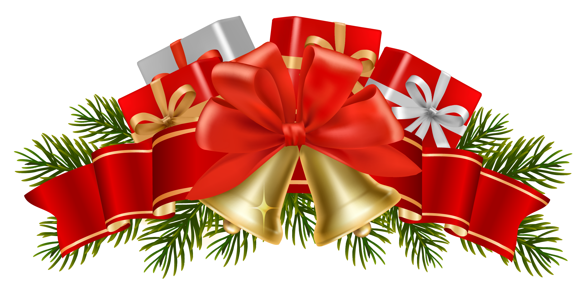 christmas bells clip. Holly clipart banner