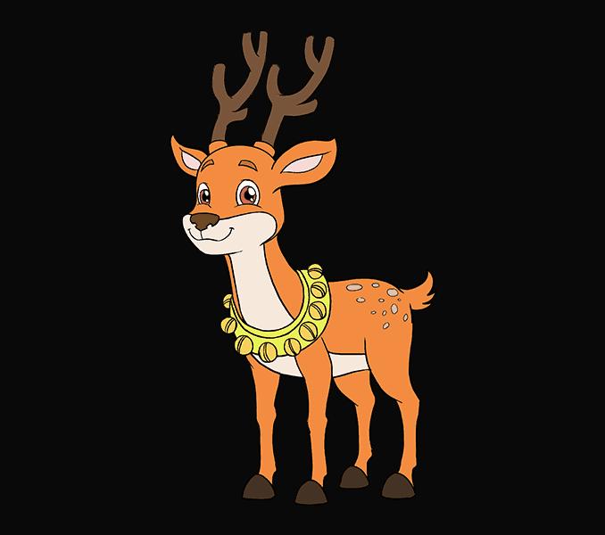 Astounding cartoon pictures how. Clipart reindeer easy