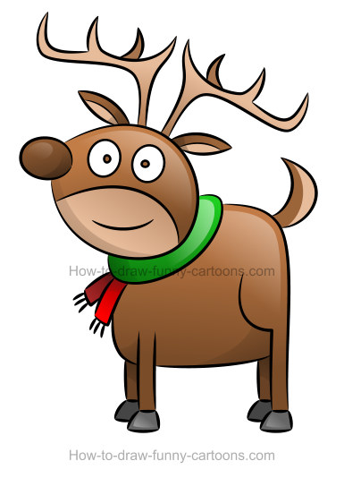 Clipart reindeer easy. How to draw a
