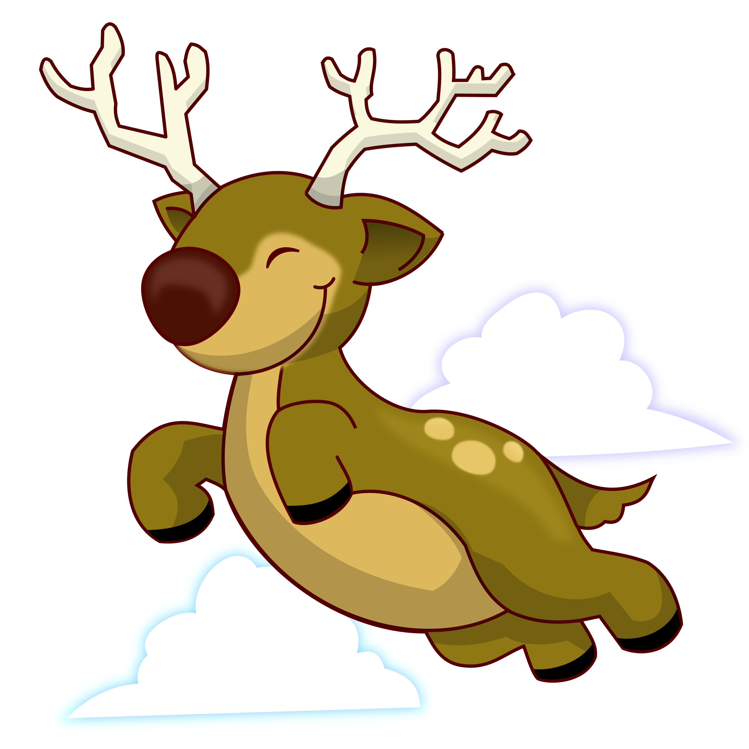 Flying big image png. Clipart reindeer easy
