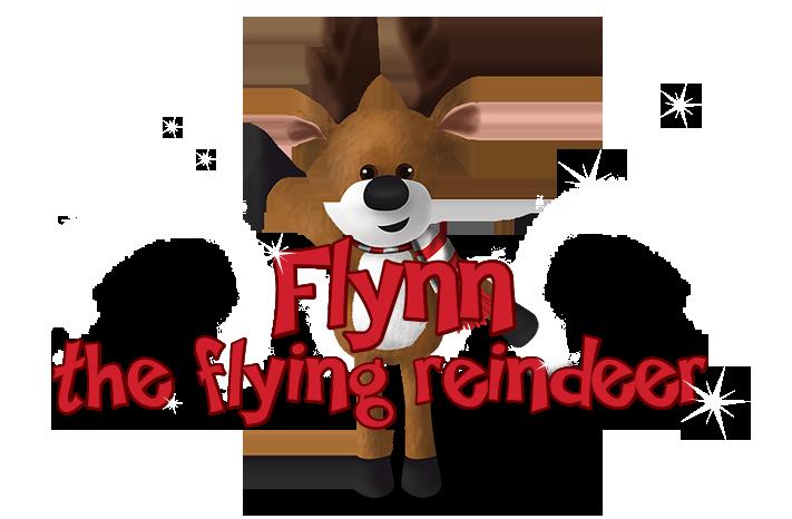 Elves clipart flying. Flynn the reindeer la