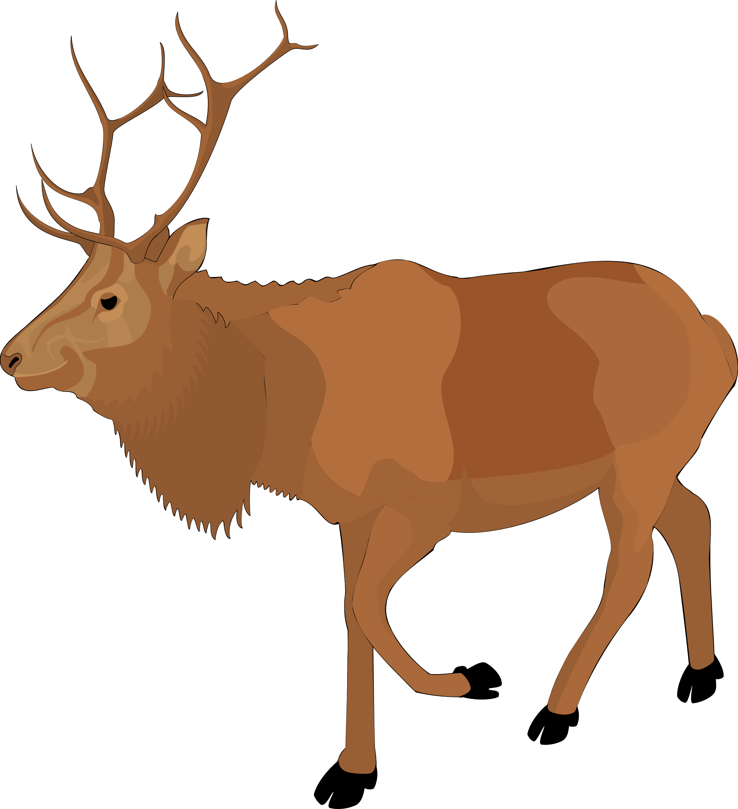 Brown reindeer pencil and. Moose clipart transparent background