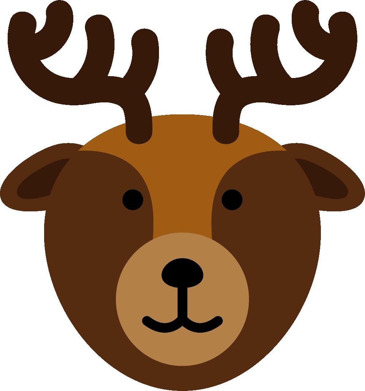 Clipart reindeer face. Silhouette head at getdrawings