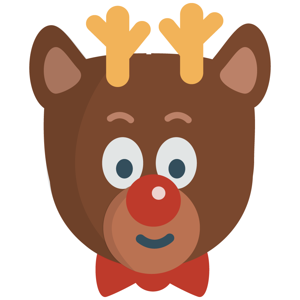 Clipart reindeer face.  collection of high