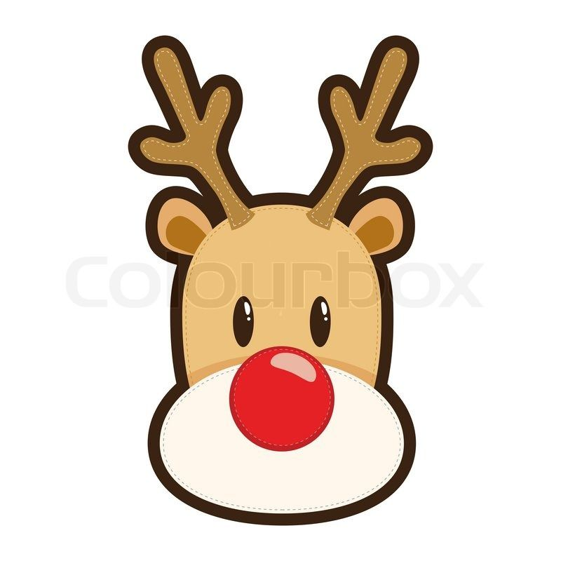 Clipart reindeer face. Rudolph the red nosed