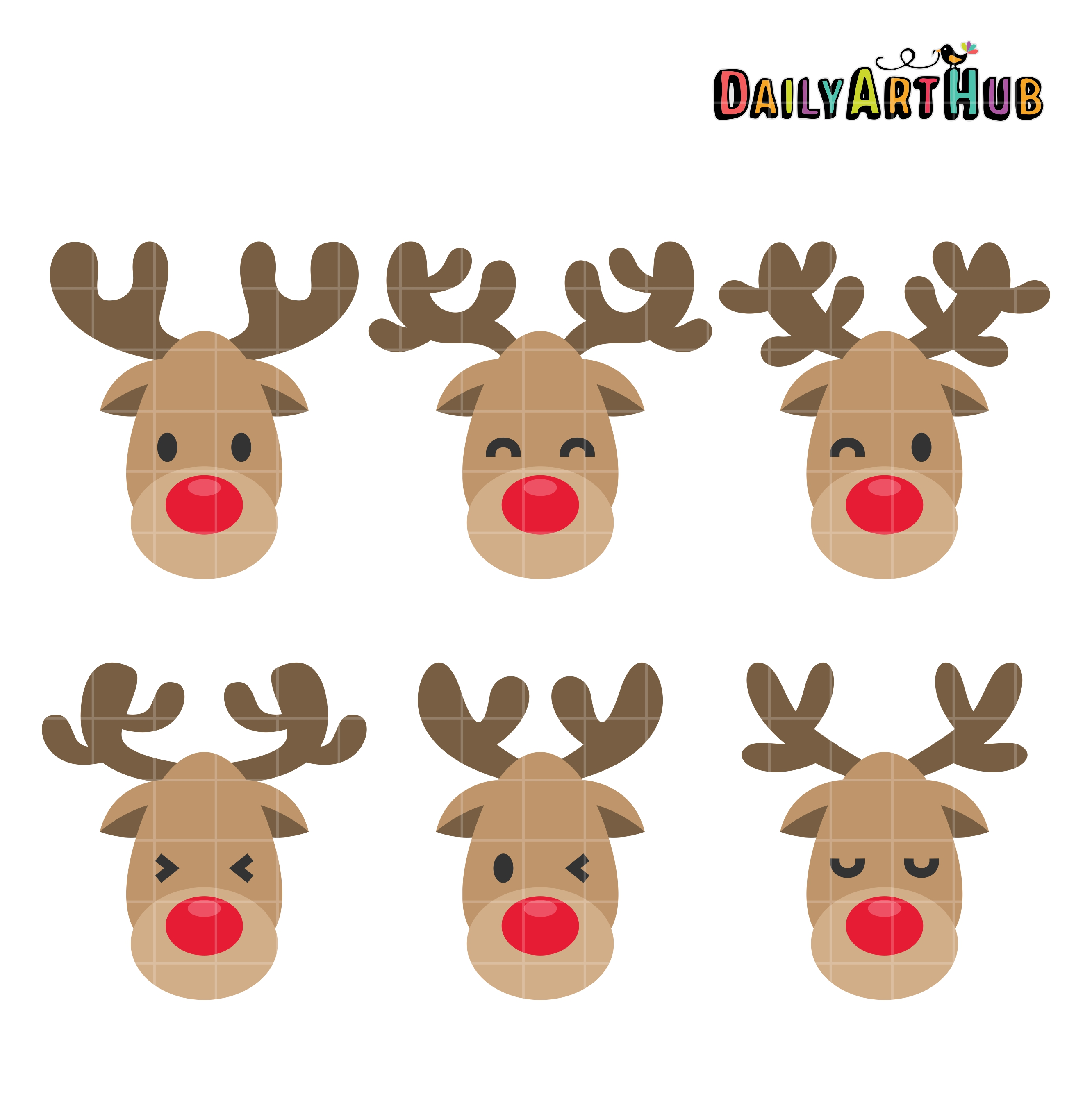 Clipart reindeer face. Station