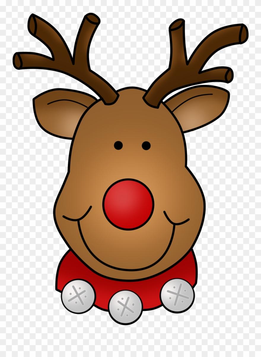 Dots of fun clip. Clipart reindeer face