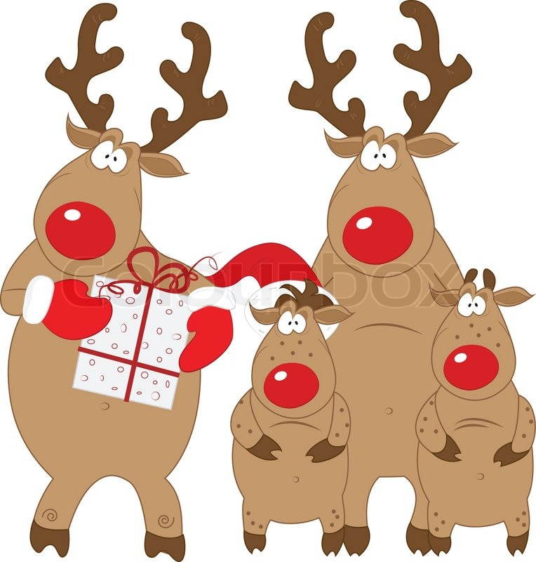 Resolution . Clipart reindeer family