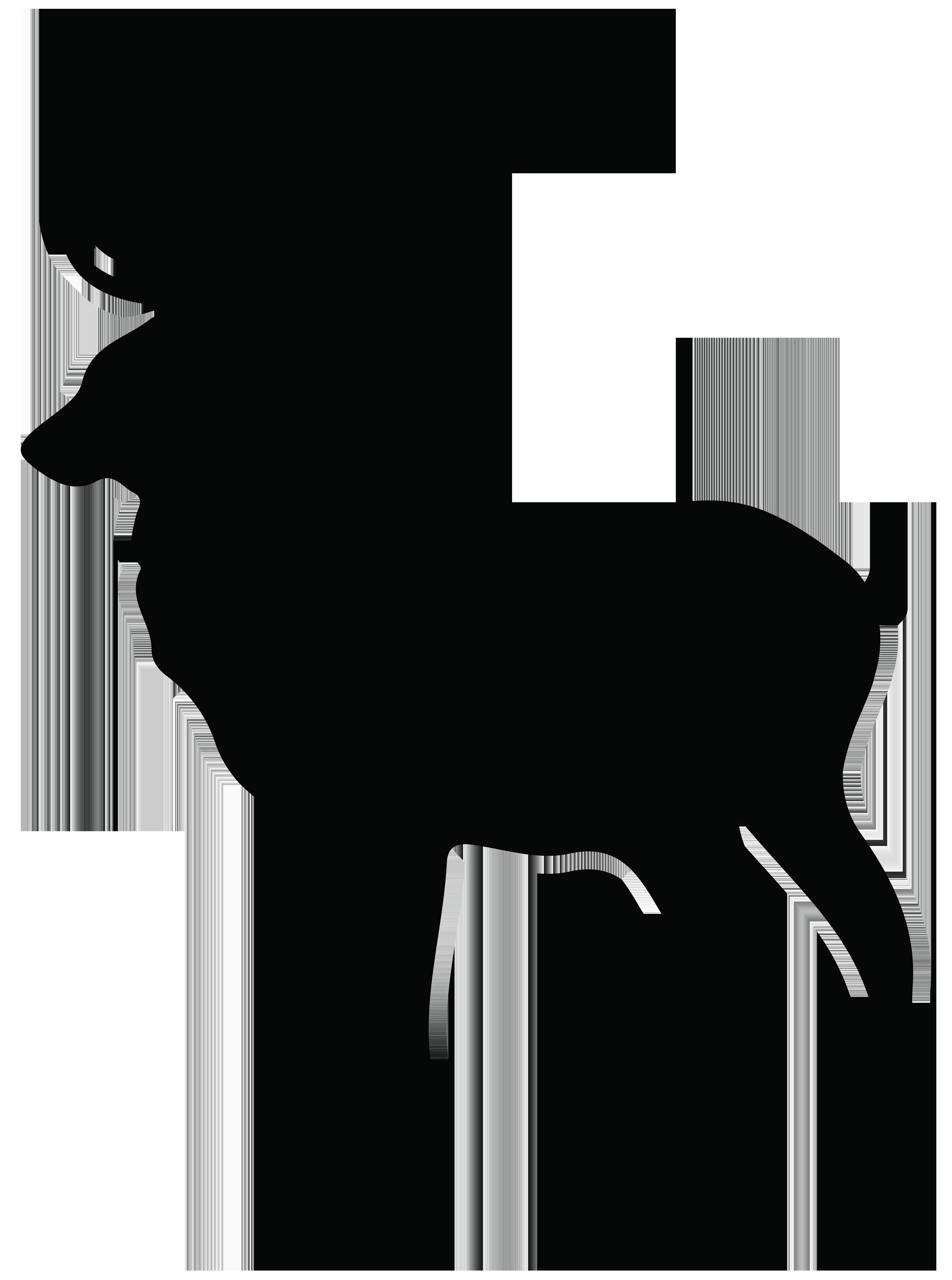 Stag silhouette at getdrawings. Floral clipart deer antler