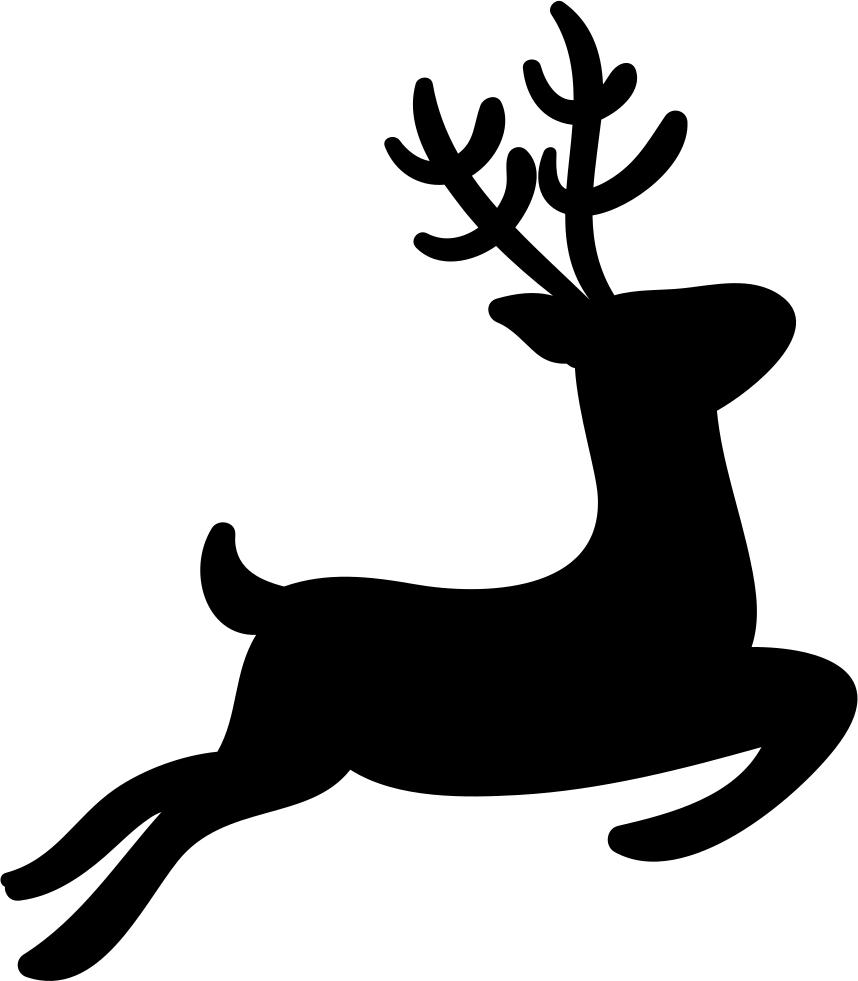 Clipart reindeer file. Silhouette png at getdrawings