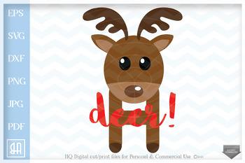 Clipart reindeer file. Oh deer svg cut