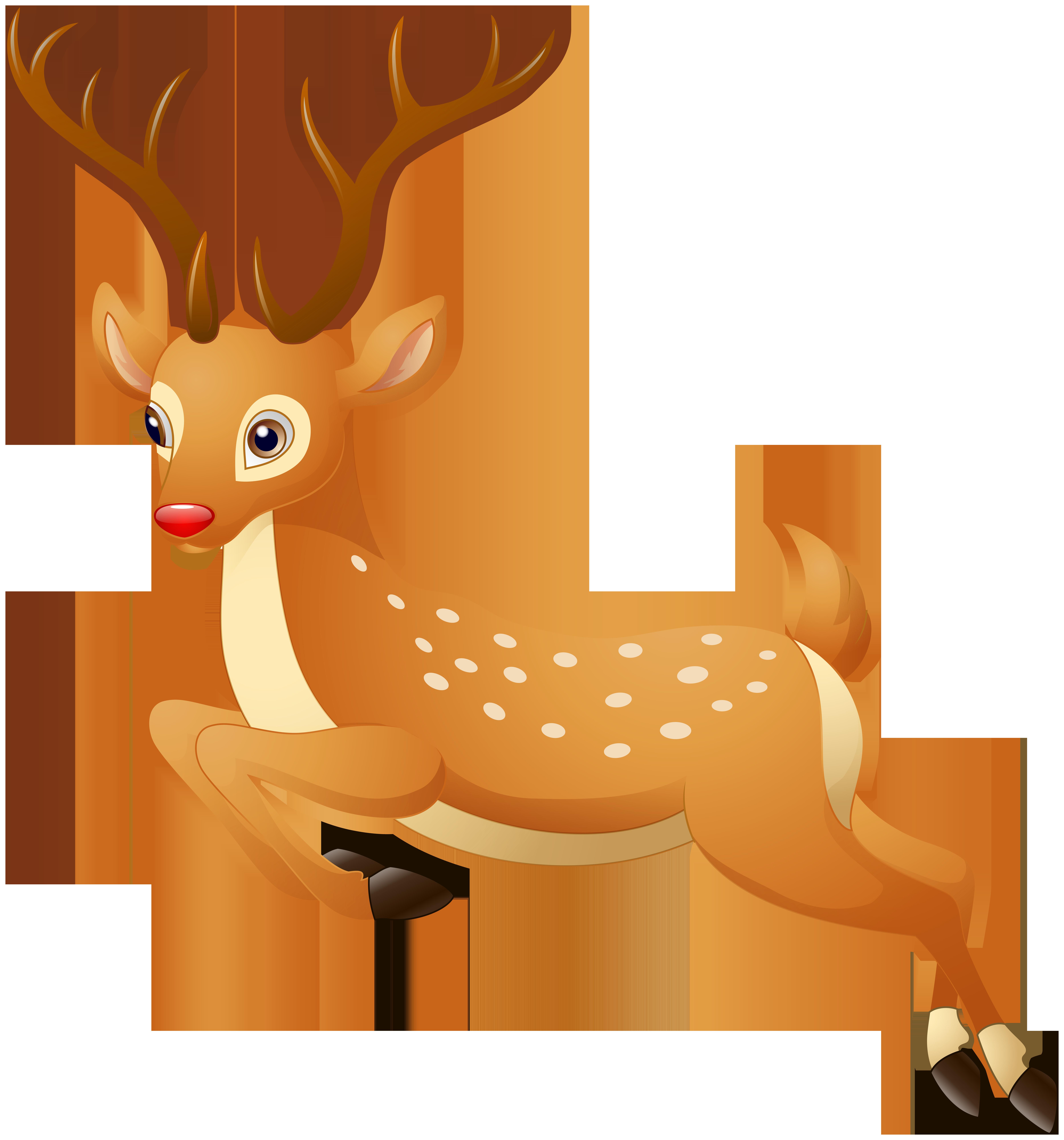 Rudolph clip art image. Clipart reindeer full size