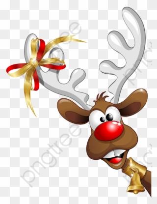 Clipart reindeer full size. Christmas santa claus en