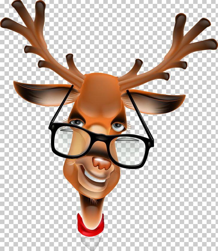 Rudolph santa claus png. Clipart reindeer glass clipart