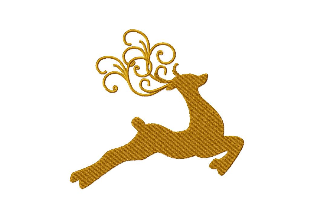 Clipart reindeer gold. Free silhouette download clip