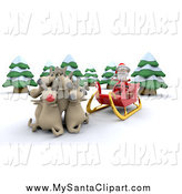 Royalty free stock santa. Clipart reindeer group