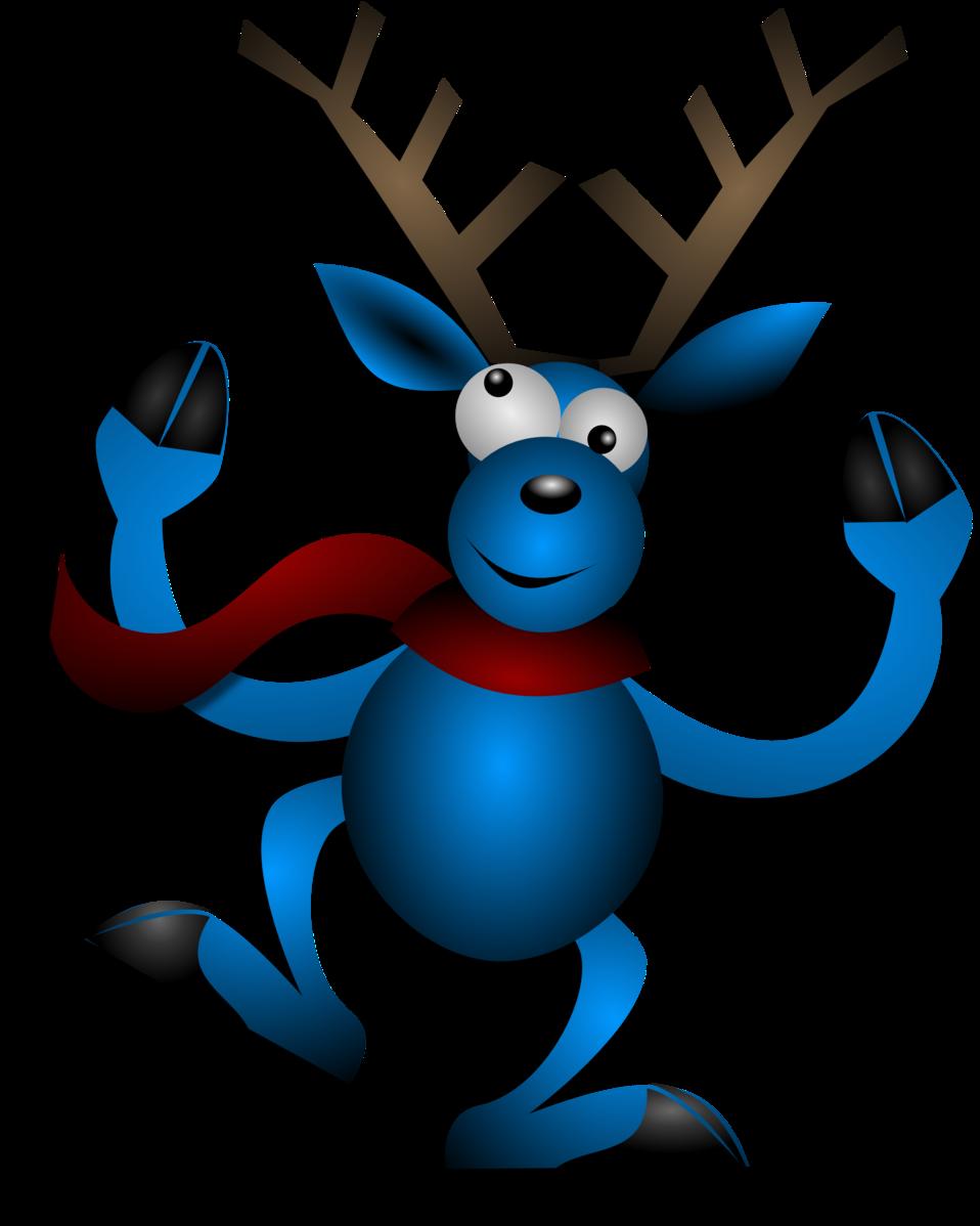Clipart reindeer happy. Public domain clip art