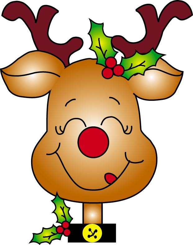 Free download clip art. Clipart reindeer happy
