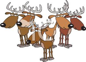 Station . Clipart reindeer herd