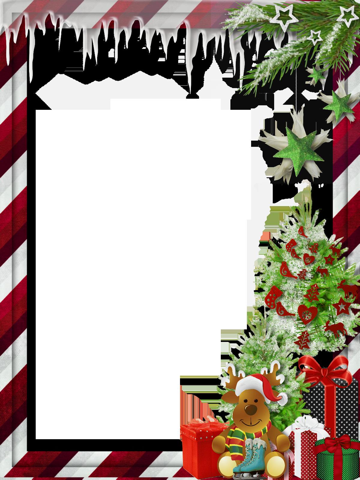 Clipart reindeer holiday. Transparent christmas photo frame