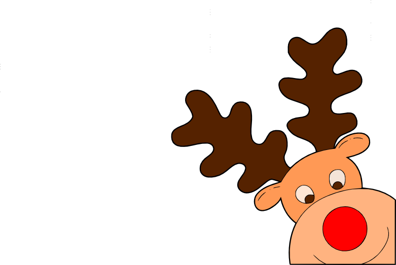 Clipart reindeer holiday. Hours at the library