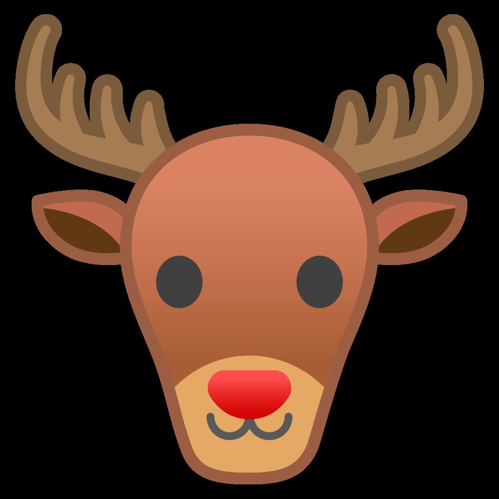 Deer noto emoji animals. Clipart reindeer icon