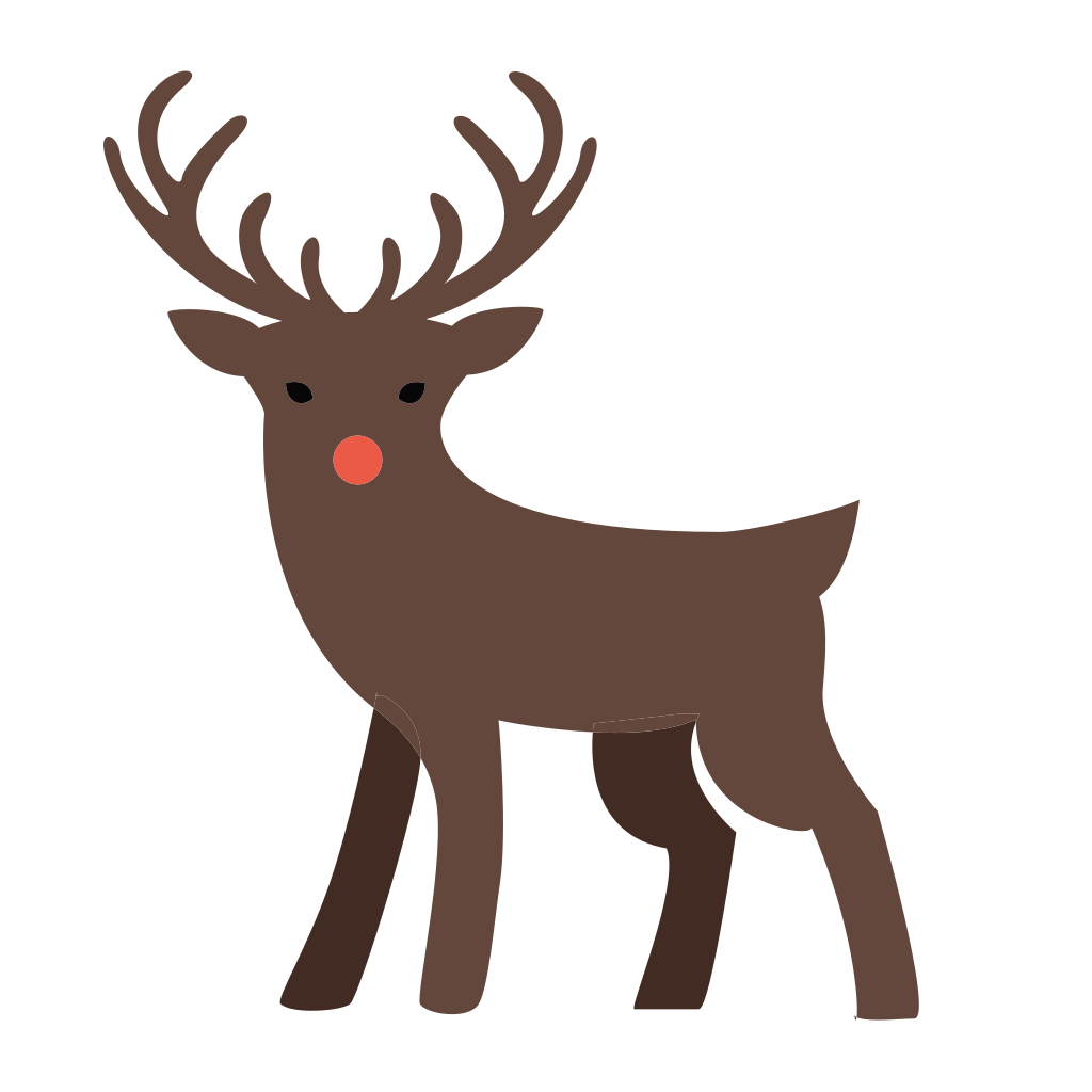 Deer xmas deco iconset. Clipart reindeer icon