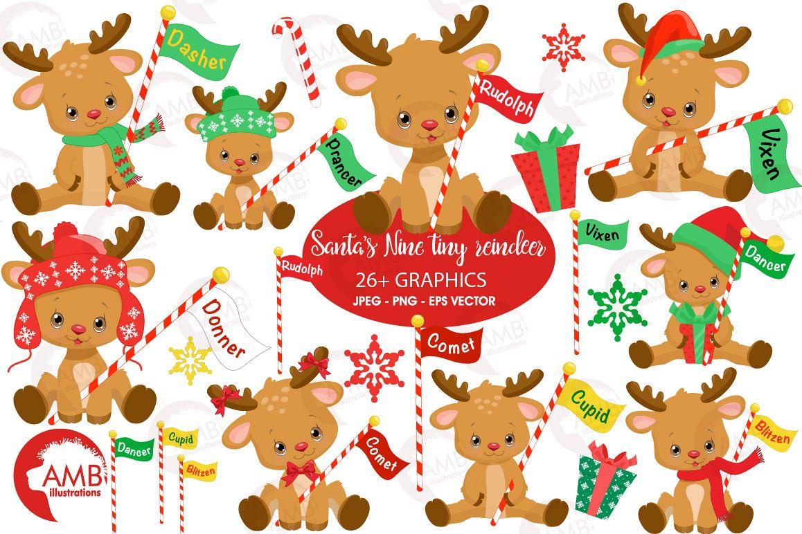 Clipart reindeer illustration. All of santas graphics