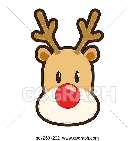 Clipart reindeer illustration. Eps vector rudolf red