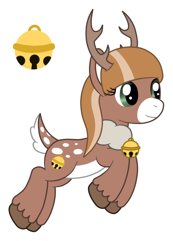 Clipart reindeer kawaii. Oc jingle belle the