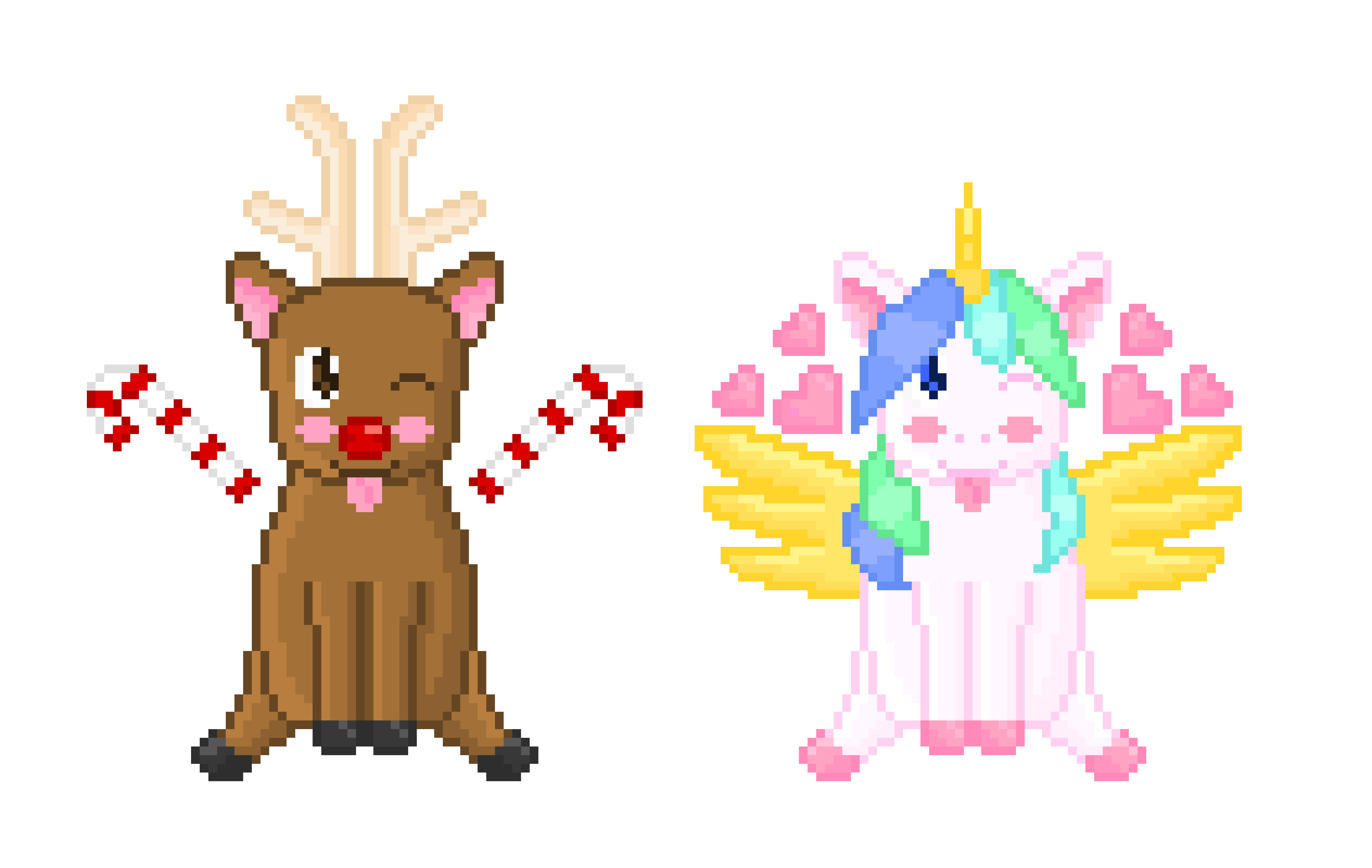Clipart reindeer kawaii. And unicorn pixel art