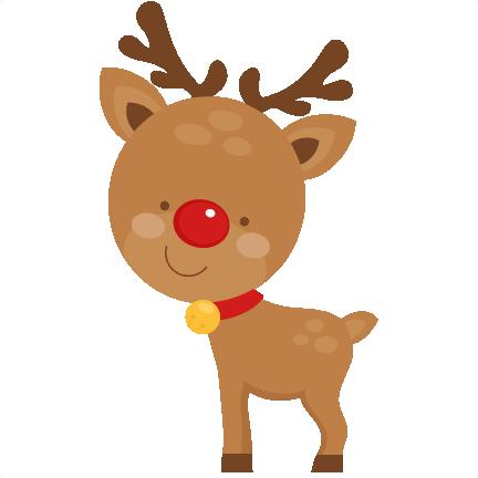Clipart reindeer large. Cute svg scrapbook cut