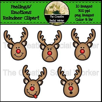 Christmas feelings emotions . Clipart reindeer mad